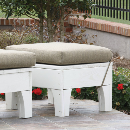 Pine Outdoor Leg Rest in the Westport Collection from Uwharrie Chair Company in White