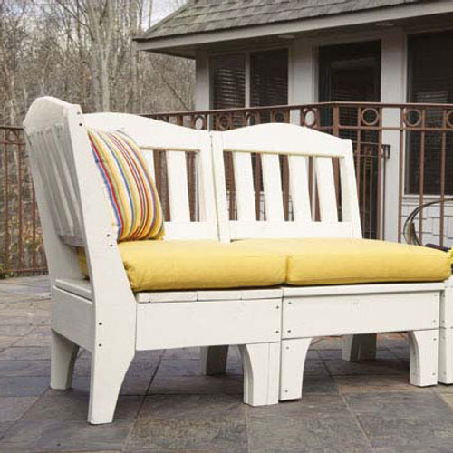 Pine Sectional Corner Unit in the Westport Collection from Uwharrie Chair Company in White