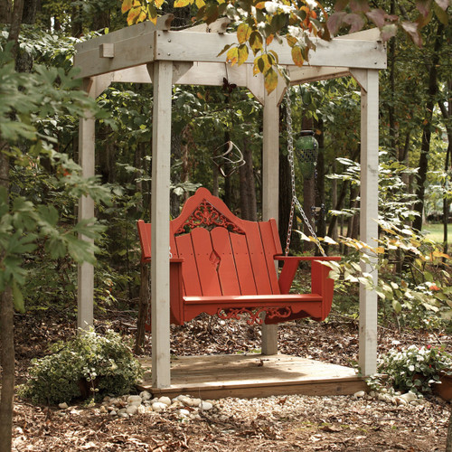 Polymer Swing in the Veranda Collection from Uwharrie Chair Company In Rustic Red