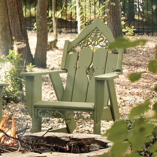 Polymer Outdoor Rocker in the Veranda Collection from Uwharrie Chair Company In Apple Green