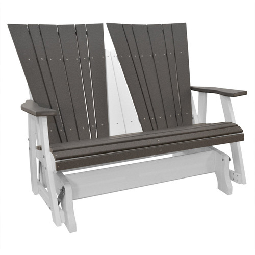 Lake Shore Collection Double Glider - Dark Gray and White
