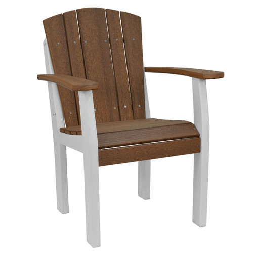 Harbor Collection Chair - Antique Mahogany and White
