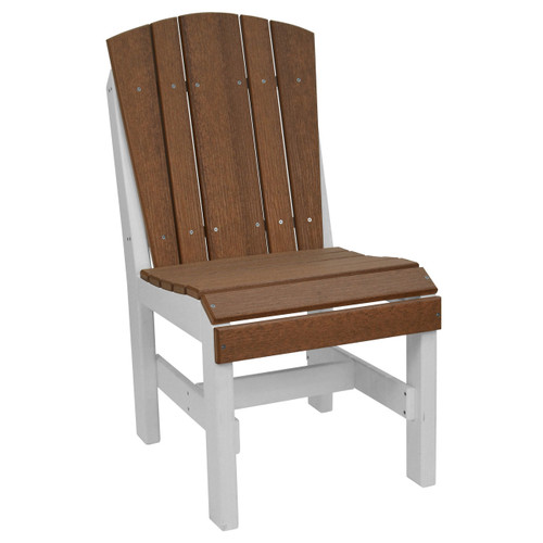 Harbor Collection Side Chair - Antique Mahogany and White