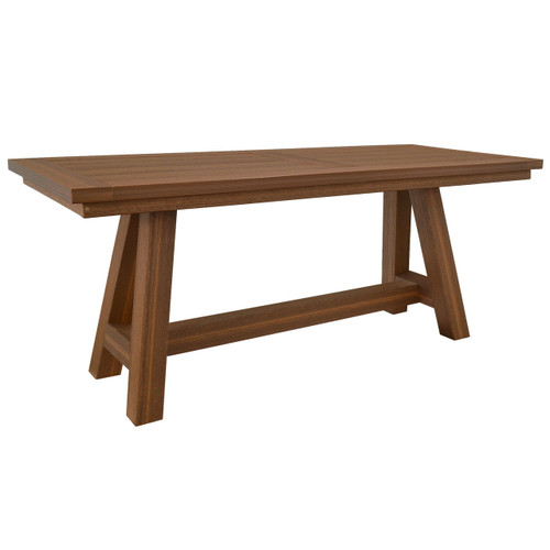 Montauk Collection Table with Farm Style Base - Antique Mahogany
