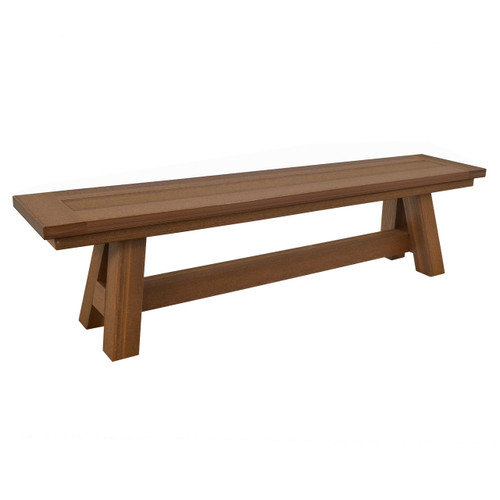 Montauk Collection Backless Bench - Antique Mahogany