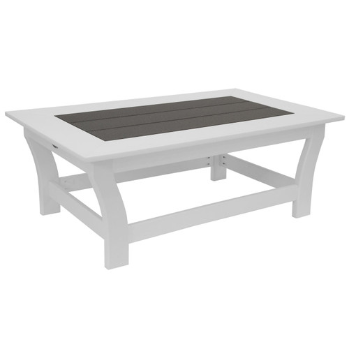 Lake Shore Collection Coffee Table - Dark Gray and White