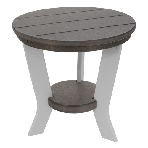 Lake Shore Collection Side Table - Dark Gray and White