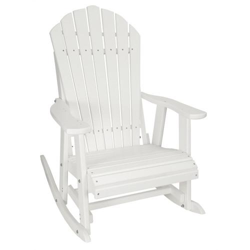 Awe Inspiring Outer Banks Deluxe Poly Lumber Adirondack Rocking Chair Inzonedesignstudio Interior Chair Design Inzonedesignstudiocom