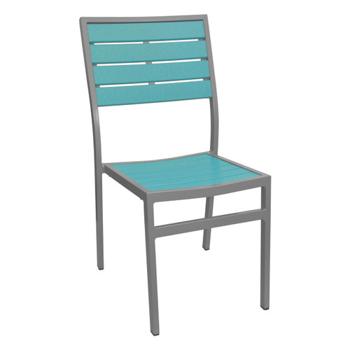 Caribbean Collection Silver Frame Side Chair