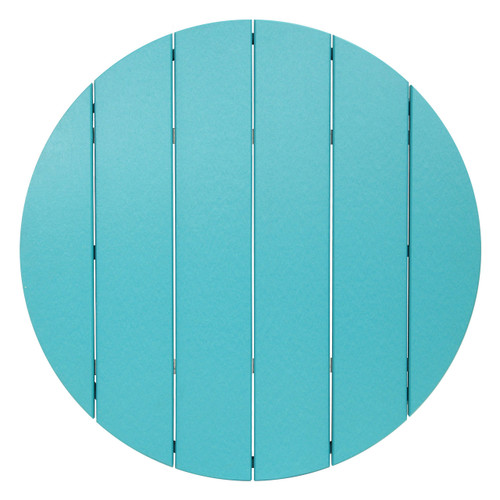 Great Lakes Collection Round Poly Lumber Outdoor Table Top - Aruba Blue
