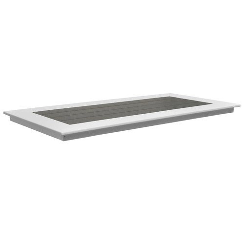 Lake Shore Collection Poly Lumber Outdoor Table Top - Dark Gray/White