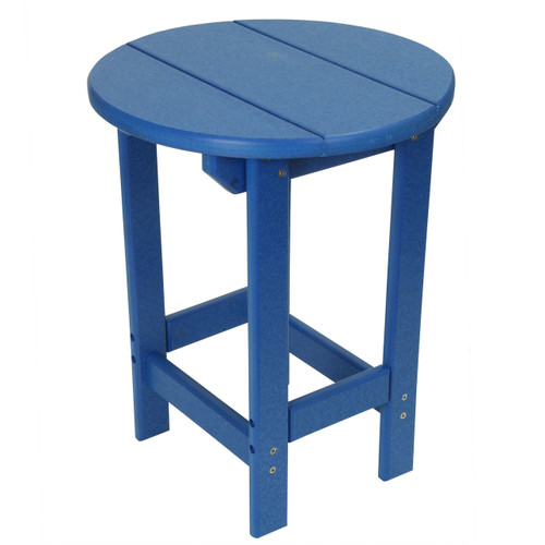 Outer Banks Poly Lumber Round Side Table - Royal Blue