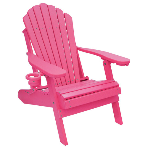 Tremendous Outer Banks Deluxe Oversized Poly Lumber Folding Adirondack Chair With Cup Holders Available In 18 Colors Andrewgaddart Wooden Chair Designs For Living Room Andrewgaddartcom