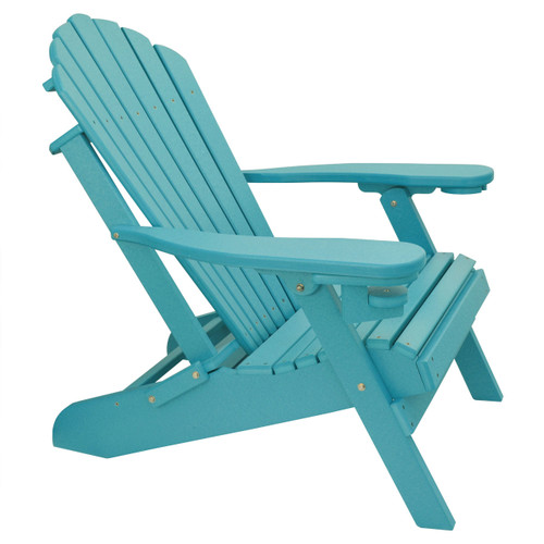 ... Outer Banks Deluxe Oversized Poly Lumber Folding Adirondack Chair Side  View ...
