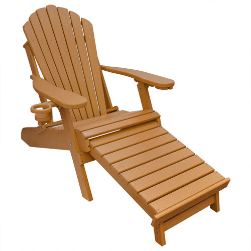 Swell Outer Banks Poly Lumber Folding Oversized Adirondack Chair With Integrated Footrest Available In 18 Colors Machost Co Dining Chair Design Ideas Machostcouk