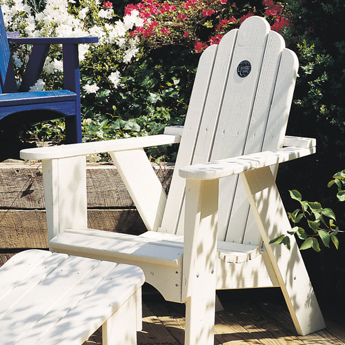 Pine Adirondack Style Chair from Uwharrie Chair Company In White