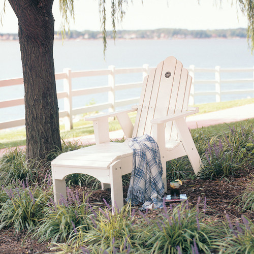 Pine Adjustable Chaise Lounge Chair from Uwharrie Chair Company in White