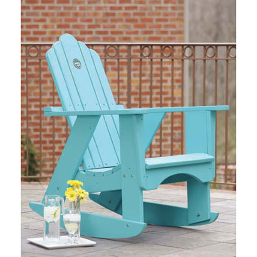 Polymer Adirondack Style Rocker from Uwharrie Chair Company in B.T. Aqua