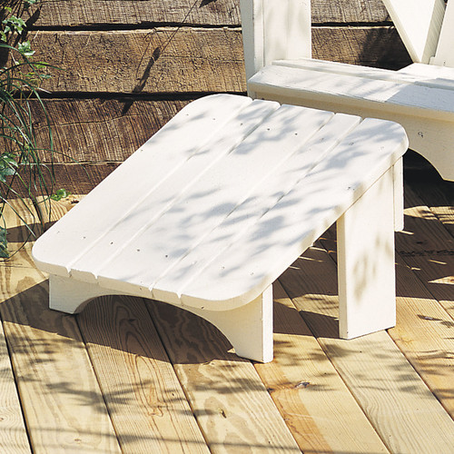 Pine Leg Rest from Uwharrie Chair Company In White