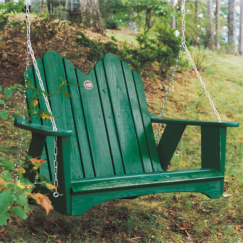Pine Outdoor Swing from Uwharrie Chair Company In Forest Green