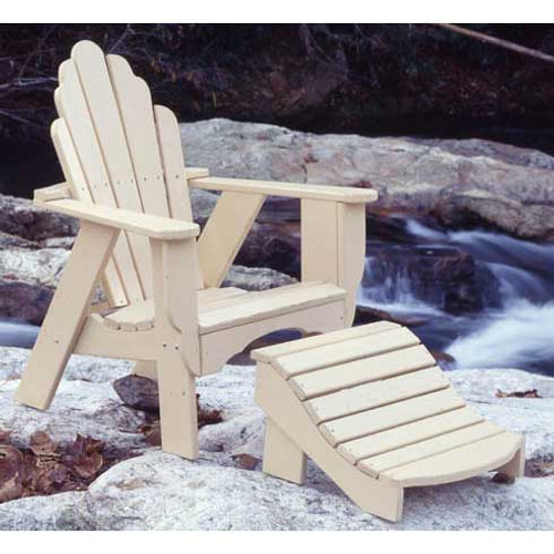 Pine Foot Rest in the Fanback Collection from Uwharrie Chair Company in Butter with Adirondack-Style Chair
