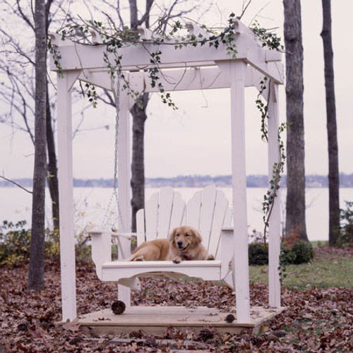 Pine Swing in the Fanback Collection from Uwharrie Chair Company in White