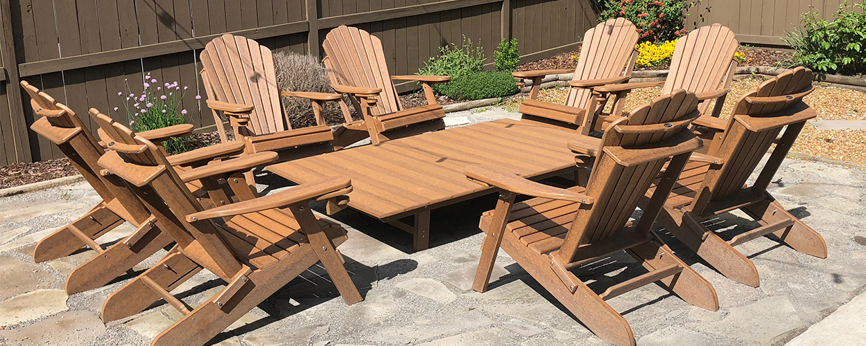 Phenomenal Shop Poly Lumber Outdoor Adirondack Furniture For Your Patio Bralicious Painted Fabric Chair Ideas Braliciousco