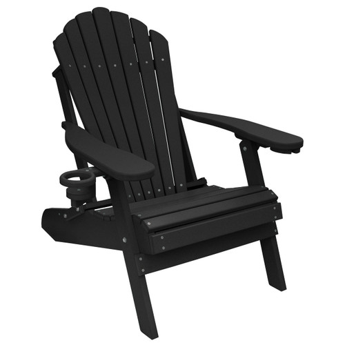 Awe Inspiring Outer Banks Deluxe Oversized Poly Lumber Folding Adirondack Chair With Cup Holders Available In 18 Colors Andrewgaddart Wooden Chair Designs For Living Room Andrewgaddartcom