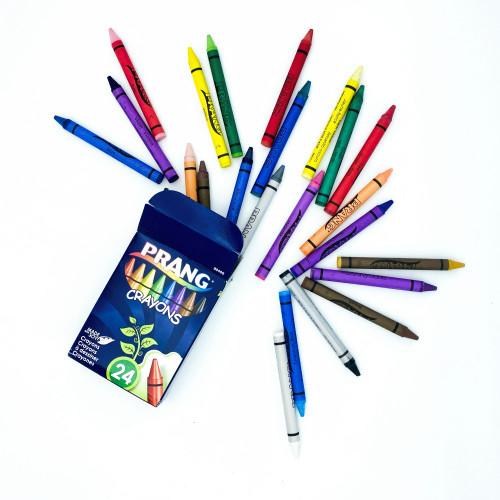 Coloring: Prang Crayons - 24 Color - Hang Tab Box