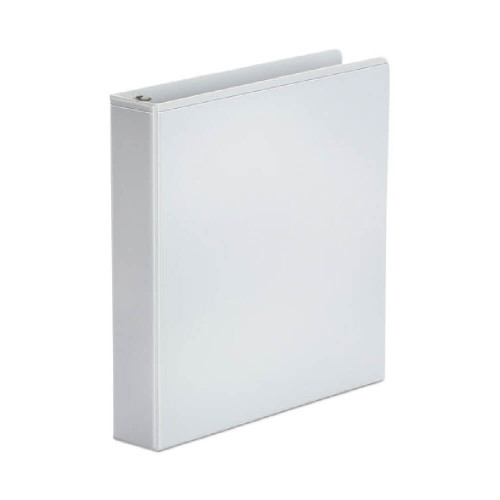 """Binders: White View Binder with 1-1/2"""" Round Rings"""