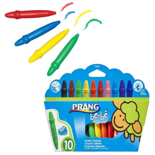 Coloring: Prang Be-Be Crayons w/ Sharpener - 10 Color