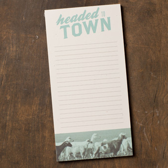 Headed To Town Notepad