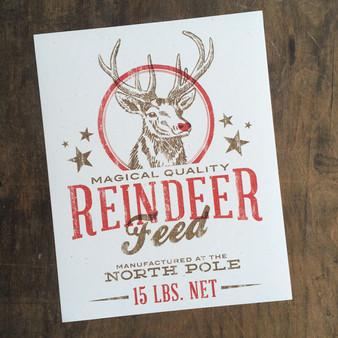 Reindeer Feed Print