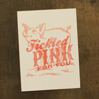 Tickled Pink For You Card