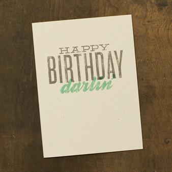 Happy Birthday Darlin' Card