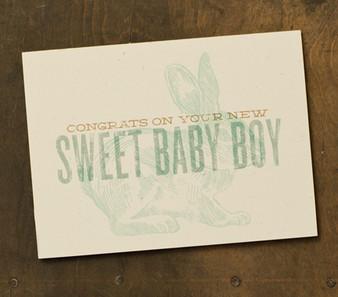 Sweet Baby Boy Card