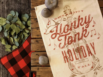 Honky Tonk Holiday Kitchen Towel