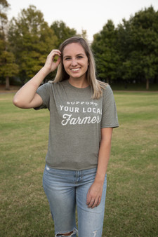 Support Your Local Farmer Shirt - GREEN