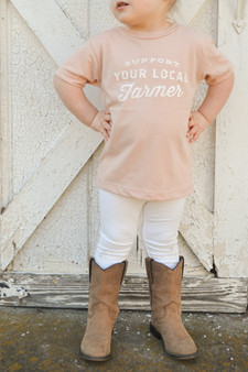 Support Your Local Farmer - Blush Toddler Shirt
