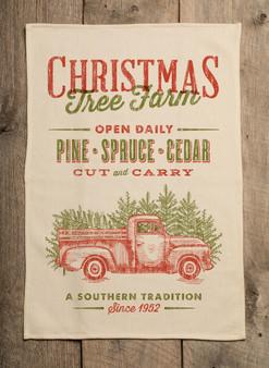 Christmas Tree Farm Kitchen Towel