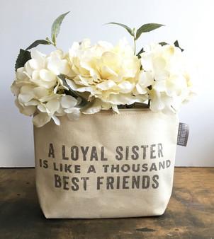 A Loyal Sister Is Like A Thousand Best Friends Zipper Pouch
