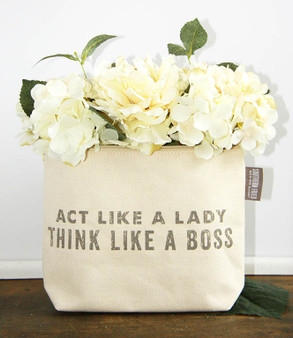 Act Like A Lady Think Like A Boss Zipper Pouch
