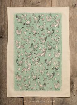Chicken Pattern Kitchen Towel