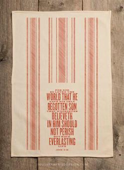 John 3:16 Bible Verse Kitchen Towel