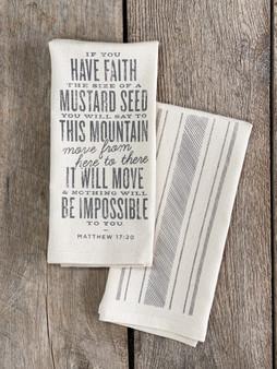 Matthew 17:20 Bible Verse Kitchen Towel