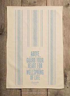 Proverbs 4:23 Bible Verse Kitchen Towel