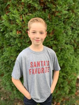 Santa's Favorite Grey YOUTH Shirt