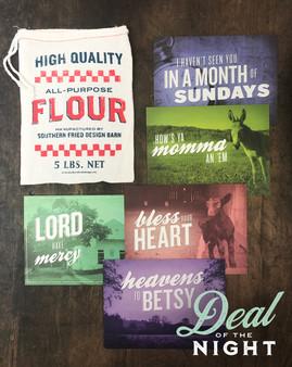 5-pack Notecards w/ Flour Sack