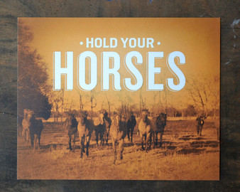 Hold Your Horses Print