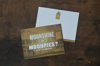 Moonshine or Moonpies? Card